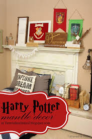 tattered and inked harry potter mantle u0026 room decor