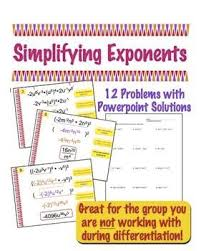 the 25 best simplifying exponents ideas on pinterest