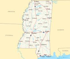 Mississippi travel distance calculator images Large detailed map of mississippi state with relief highways and jpg