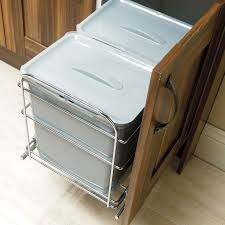 it kitchens 600mm integrated pull out kitchen bins 78l