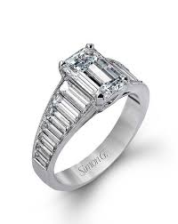 emerald cut wedding set emerald cut engagement rings