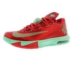 kd christmas nike mens kd vi christmas synthetic basketball shoes