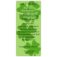 st patricks day party invitations shamrock trio paperstyle