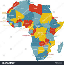 africa map labeled map africa stock vector 690683143