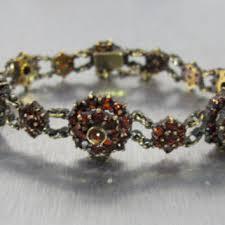 antique garnet bracelet images Bohemian garnet bracelet victorian from tonettestreasures on jpg