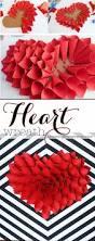Valentine S Day Decoration Ideas Banquet by Diy Paper Heart Wreath Wreath Tutorial Wreaths And Tutorials