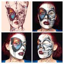 airbrush makeup for halloween butterfly and skull halloween makeup fantasy u0026 halloween