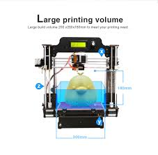 geeetech 3d printer prusa i3 pro w wood diy auto leveling high