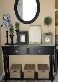 Black Entryway Table Entryway Decorations Paint My Sofa Table Black And Put