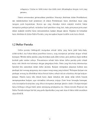 daftar pustaka merupakan format dari penulisan proposal tinjauan pustaka
