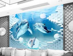 Wall Murals 3d Dolphin Deep 3d Ocean Museum Background Wall Mural 3d Wallpaper 3d