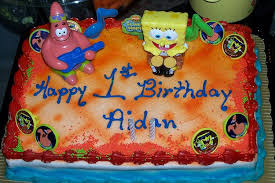 spongebob cake for birthday