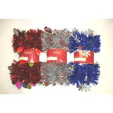 shop living indoor 9 ft l tinsel garland at lowes