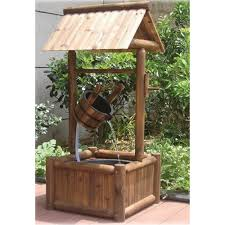 stonegate designs wooden wishing well square base