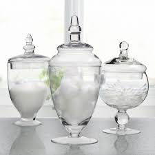 clear glass canisters for kitchen ksp spa apothecary jars set of 3 kitchen stuff plus