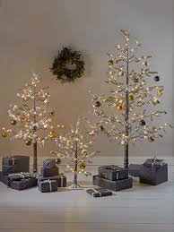 new frosted pine indoor outdoor light up trees