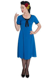 hell bunny pinup 50s dress alveira dress cobalt u2013 grease vixen