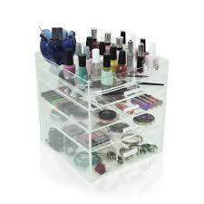 acrylic clear makeup case display box organizer 3 4 5 6 7
