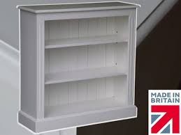 heartland pine 100 solid wood bookcase 3ft x 3ft white painted
