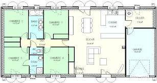 plan maison plain pied gratuit 4 chambres plan maison 4 chambres plan maison moderne d chambres with plan