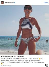 swimsuit pubic hairs showing davina mccall exposes underboob in eye popping bikini pic amid