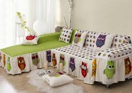 Printed Sofa Slipcovers Aliexpress Com Buy Cotton Owl Printed Sofa Cover Home Textile