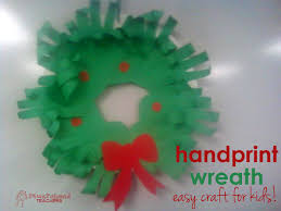 hand print paper wreath craft squarehead teachers