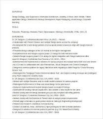 Senior Web Designer Resume Sample by Ux Designer Resume 7 Free Word Pdf Documents Download Free