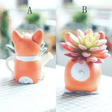 mini corgi planter pots u2013 home and wild