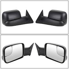 amazon com scitoo pair set towing mirror manual black side view