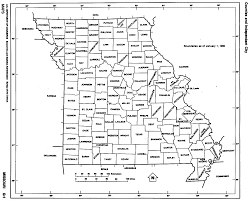 Pa Counties Map Missouri State Map With Counties Outline And Location Of Each