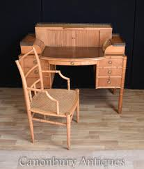 Bamboo Desks Regency Bamboo Desk And Chair Set Writing Table Antique
