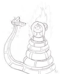 kaa and flame princess sketch by lol20 on deviantart