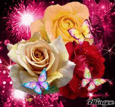 Roses And Butterflies - roses and butterflies picture 130302829 blingee com