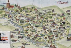 Map Of Tuscany Italy Easy Brief Chianti Travel Guide Chianti Tourist Information