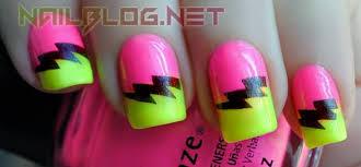 55 most beautiful neon nail art design ideas