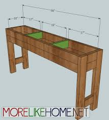 Kreg Jig Table Top More Like Home Day 7 Build A Chunky Console Table