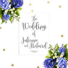 affordable wedding programs printable wedding program chic calligraphy wedding ceremony order