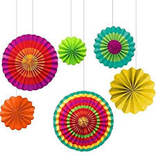 paper fan amscan paper fan decorations set of 6 toys