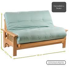 Sofa Bed Pocket Sprung Mattress by Cavendish 2 Seater Oak Futon Sofa Bed