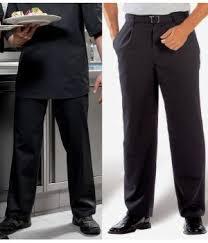 pantalon cuisine noir cuisine 50 polyester 50 coton noir taille 42