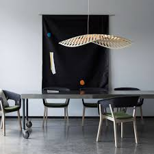 navicula pendant light by david trubridge design ylighting small in use over table