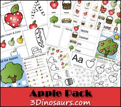 free apple activities pack 3 dinosaurs