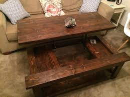 coffee tables simple distressed natural wood lift top coffee