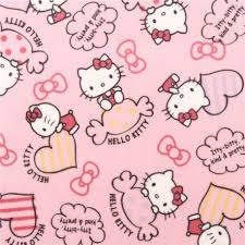 hello bow light pink hello sweet heart bow oxford fabric kawaii