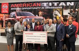 nissan frontier jackson ms nissan donates 250k to historically black schools madison