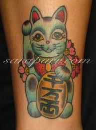 tattoo cat neko cat japanese cat money cat neko tattoo on december 1 2009 by sara