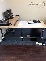 Diy Desk Diy Butcher Block Desk Simplified Building