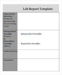 lab report template word 7 free report templates word excel pdf templates