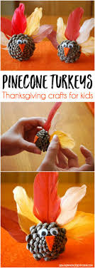 pinecone turkeys thanksgiving craft ideas for